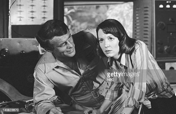 SHEEP The Cat's Whiskers Episode 12 Aired 12/7/76 Pictured Robert Conrad as Maj Greg 'Pappy' Boyington Jill Jaress as Col Lard's Secretary Photo by...