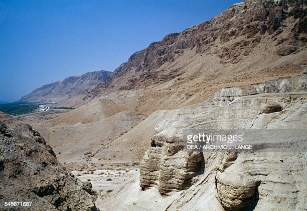 The cave area near the ancient Essene settlement of Khirbet Qumran where the Dead Sea Scrolls were fround Israel