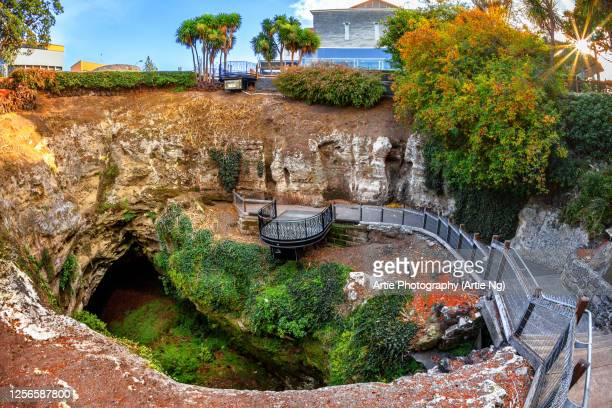 the cave gardens, mount gambier, south australia - sinkholes stock pictures, royalty-free photos & images