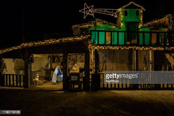 The cave of the Living Nativity in Palombaio a small hamlet of Bitonto in Puglia on December 28th