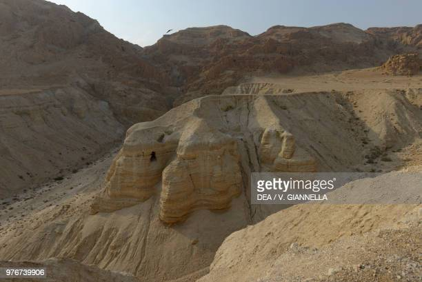 The caves of Qumran where the Dead Sea scrolls were found, Israel.