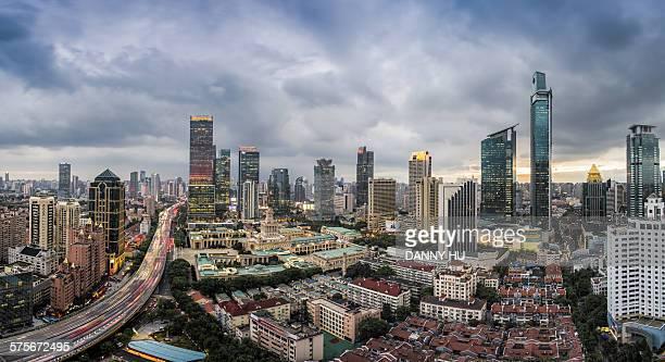 The CBD of Shanghai