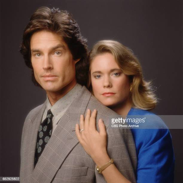 The CBS daytime drama, The Bold and the Beautiful. Ronn Moss and Joanna Johnson . Image dated January 1, 1990.