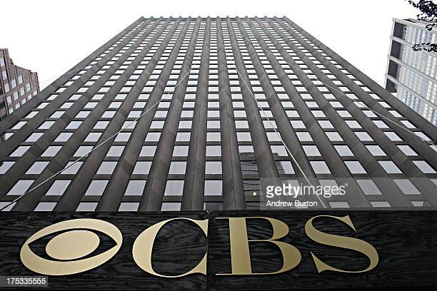 The CBS headquarters seen on August 2 2013 in New York City Time Warner Cable dropped CBS in three major markets New York Los Angeles and Dallas...