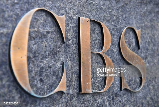 The CBS logo is seen at the CBS Building headquarters of the CBS Corporation in New York City on August 6 2018