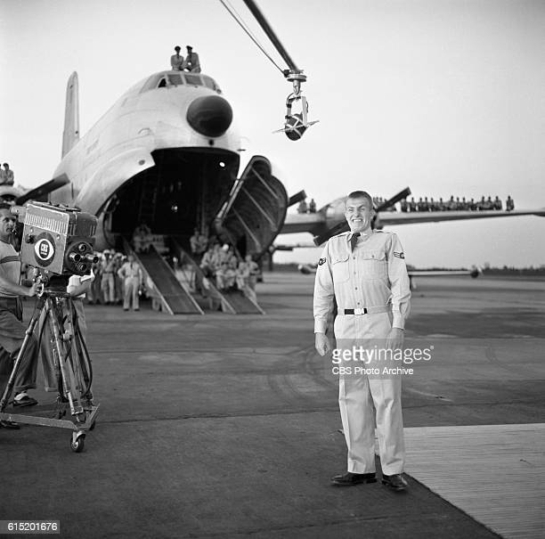 The CBS Television program 'Toast of the Town' broadcasts from Mitchel Air Force Base in Hempstead Long Island New York NY on July 25 1954 Hosted by...