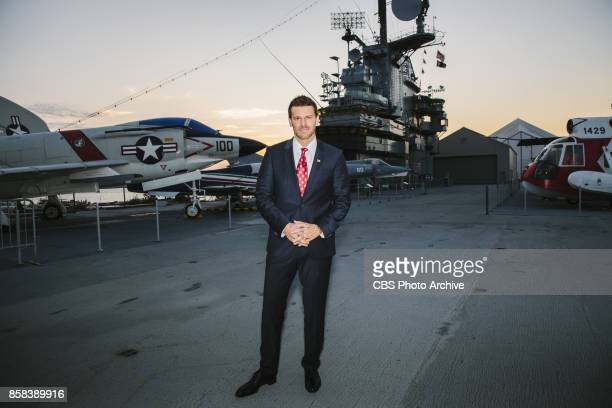 The CBS Veterans Network previews the Pilot of SEAL Team on The USS Intrepid Pictured David Boreanaz