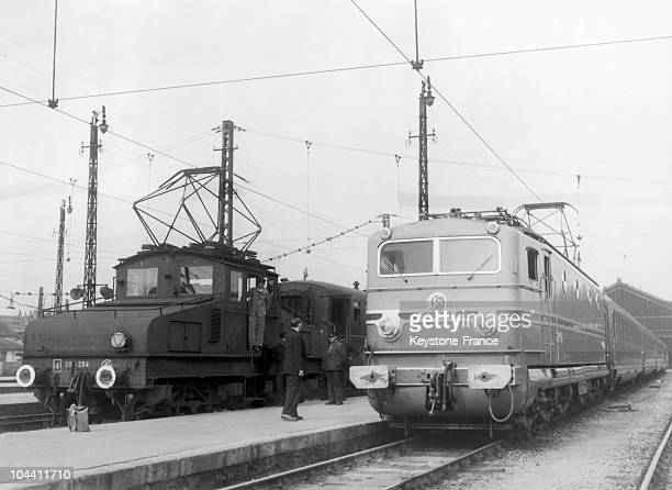 The CC 7001 electric locomotive put together by the SNCF on October 15 1949 It had just done a trial run on the ParisTours line and reached a speed...