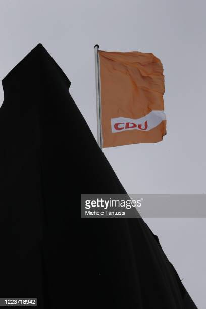 The CDU Headquarters Konrad Adenauer Haus covered with Black fabric by Greenpeace activists during a Protest against the coal Exit strategy of the...