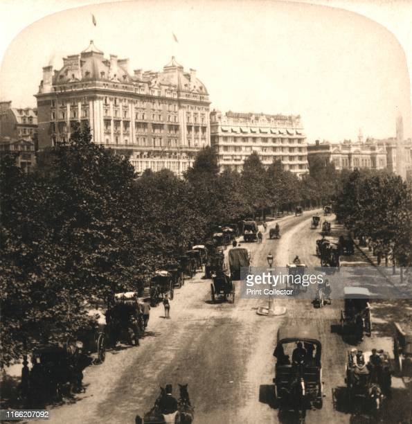 The Cecil and Savoy Hotel's London' 1896 From Underwood and Underwood Publishers New YorkLondonToroto CanadaOttawa Kansas Artist Works and Sun...