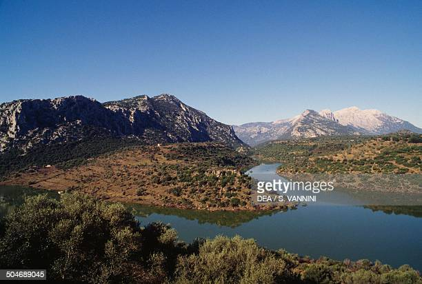 The Cedrino River Gennargentu massif Sardinia Italy