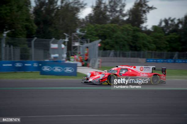 The CEFC Manor TRS Racing Oreca of Roberto Gonzalez Simon Trummer and Vitaly Petrov drives during the 6 Hours of Mexico Practice as part of FIA World...