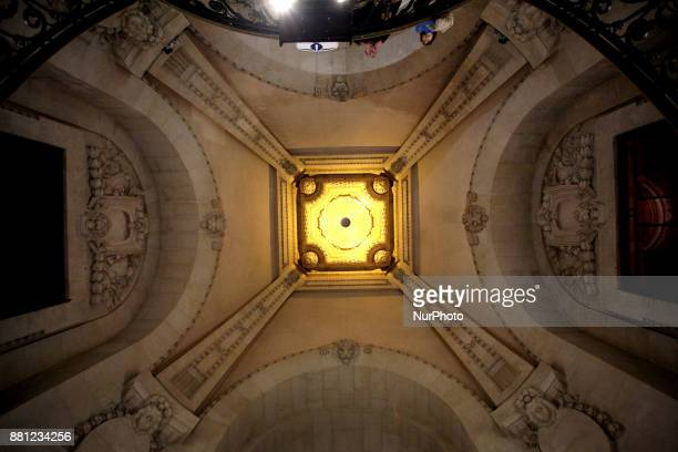The ceiling at the Grand Palais in Paris France on November 26 2017