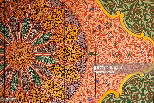 the ceiling of the bahia palace, marrakesh - palace stock pictures, royalty-free photos & images