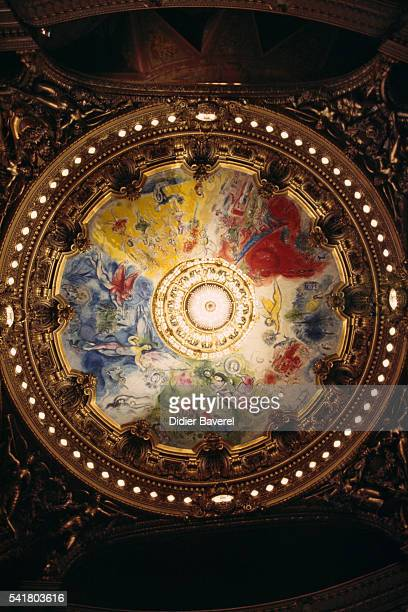 The ceiling of the Garnier opera house was painted by artist Marc Chagall in 1964