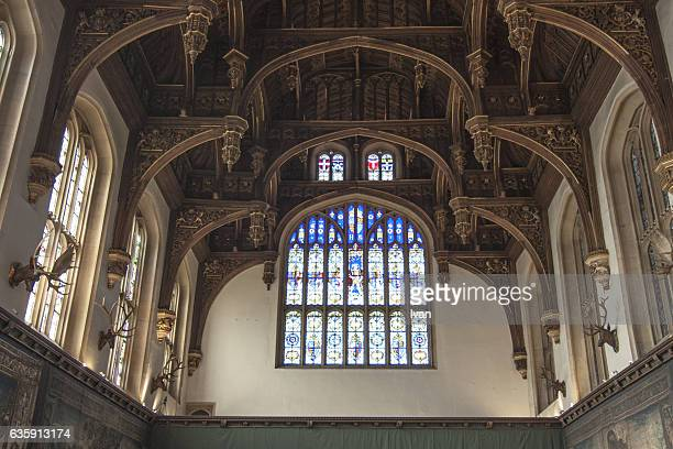 the ceiling of the great hall of hampton court palace, england, london,uk - hampton court stock pictures, royalty-free photos & images