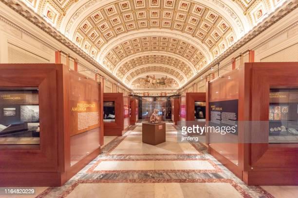 米国ワシントンdc議会図書館の天井 - 新古典派 ストックフォトと画像
