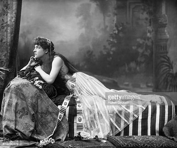 The celebrated actress and beauty Lillie Langtry in the role of Shakespeare's Cleopatra ca 1900