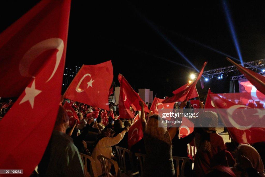 トルコの民主主義の祭典 : ストックフォト
