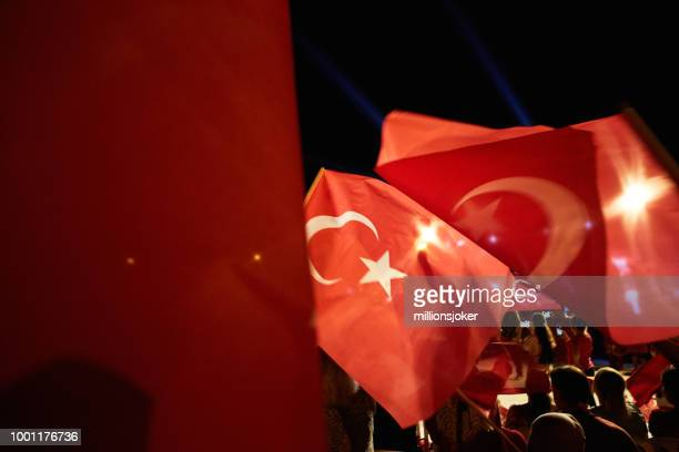 the celebration of democracy in turkey - july stock pictures, royalty-free photos & images