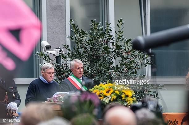 The celebration of the funeral Lea Garofalo in Piazza Beccaria in Milan Lea Garofalo witness to justice killed by the 'Ndrangheta in 2009 In photo...