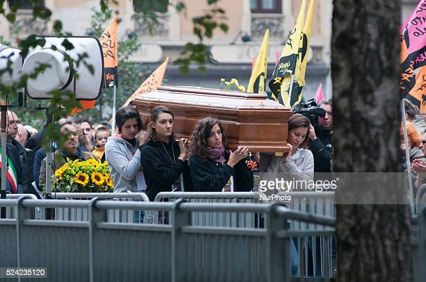 The celebration of the funeral Lea Garofalo in Piazza Beccaria in Milan Lea Garofalo witness to justice killed by the 'Ndrangheta in 2009 Photo Marco...