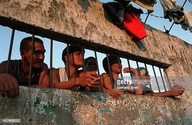 The cell block for Sputnik gang, which holds some 600 inmates. Manila City Jail was built for 800 prisoners by the Spanish in the mid-nineteenth...