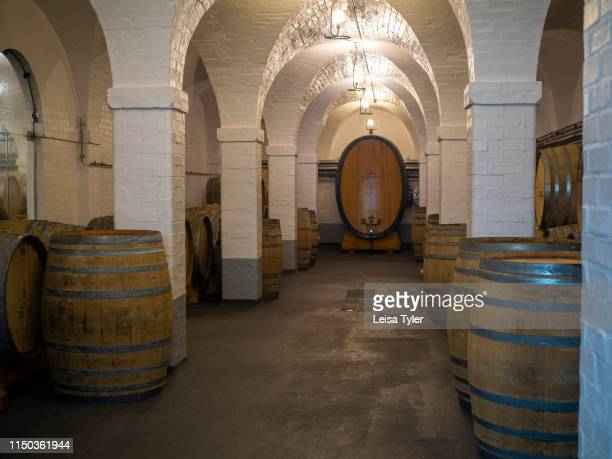 The cellar at Klein Constantia a 146hectare wine estate established in 1685 on the upper foothills of the Constantiaberg South Africa