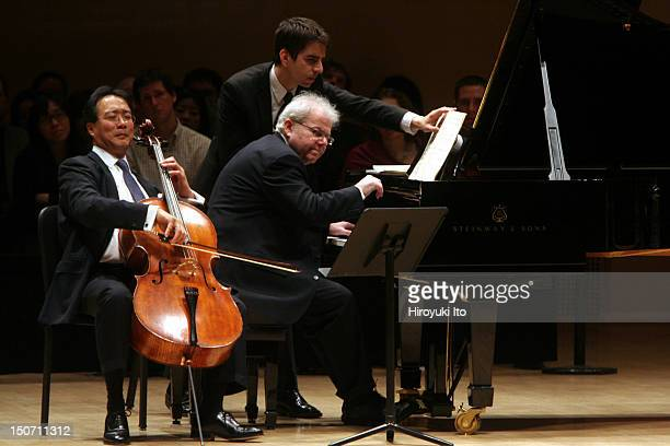 The cellist YoYo Ma and the pianist Emanuel Ax performing the music of Schumann Chopin and Lieberson at Carnegie Hall on Friday night January 29 2010