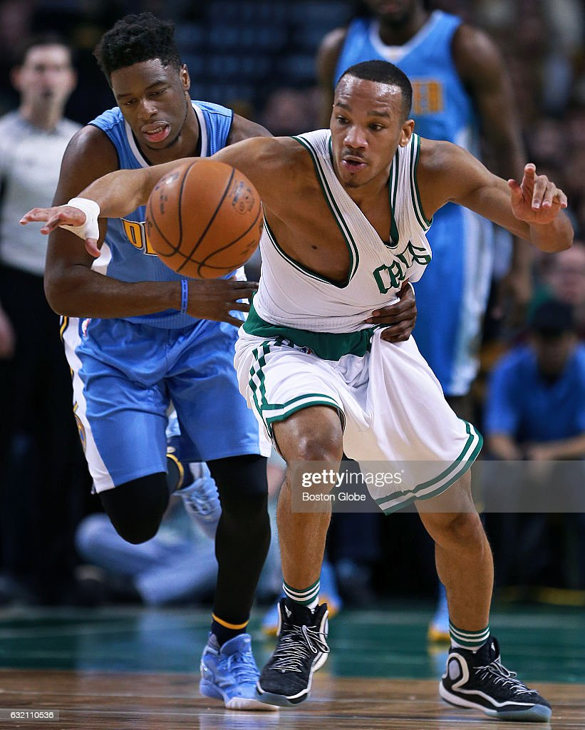 The Celtics Avery Bradley, Right, Steals The Ball From