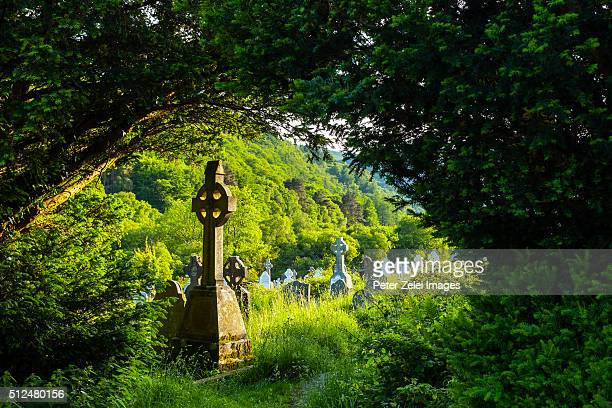 The cemetery at the Glendalough monastic site in Country Wicklow, Ireland