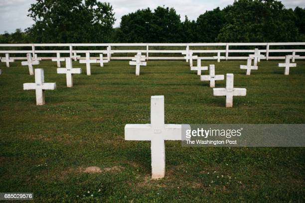 The cemetery at The Louisiana State Penitentiary also known as Angola in Saint Francisville Louisiana on April 26 2017 Angola one of the few prisons...