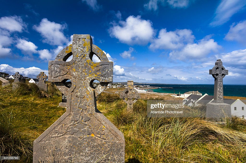 The Cemetery of Inisheer (Inis Orr) : Stock Photo