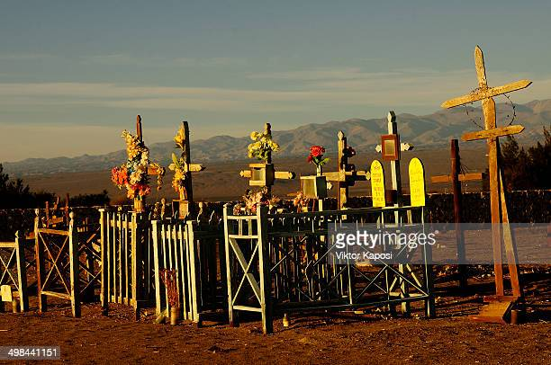 The cemetery of La Huayca, a small village in the Atacama Desert near Iquique.