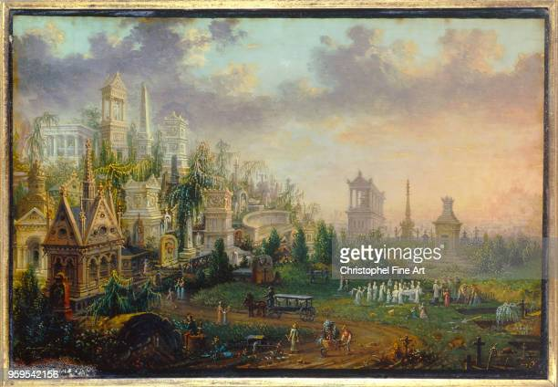 the cemetery of the father lachaise 1835 Lebelle 19 Eme Siecle Musee Carnavalet France