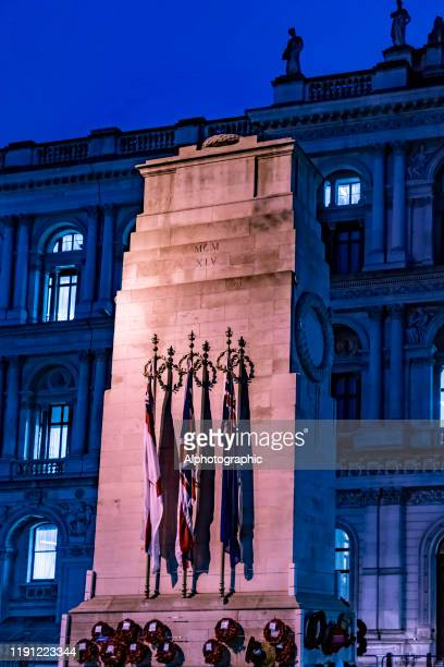 2019 the cenotaph in london after remembrance day - commonwealth service stock pictures, royalty-free photos & images