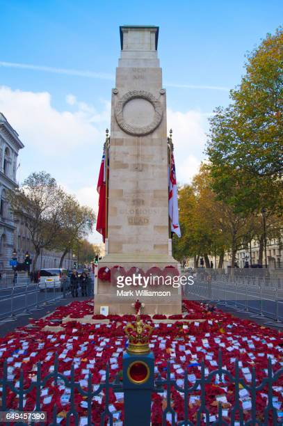 the cenotaph in london. - cenotaph london stock pictures, royalty-free photos & images