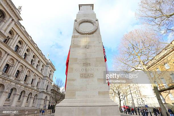 the cenotaph, london - cenotaph london stock pictures, royalty-free photos & images