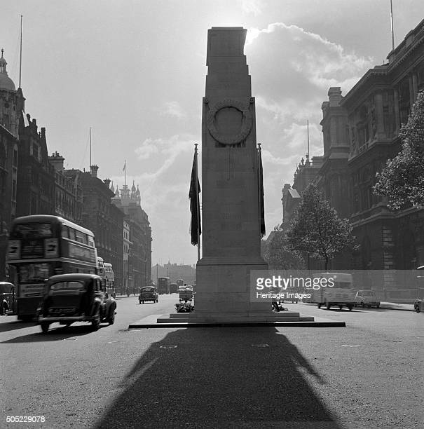 The Cenotaph looking south along Parliament Street Whitehall London 1959 Artist Historic England Staff Photographer