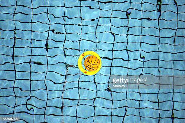 The center ball holding float in the pool at the water polo venue at the 2004 Olympic Games in Athens Greece August 15 2004