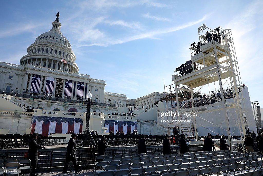 Rehearsal For Presidential Inauguration Held In Washington DC : News Photo