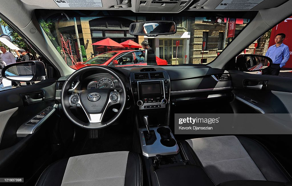 The Center Console Of The New 2012 Toyota Camry SE V6 Is Seen After The  Unveiling