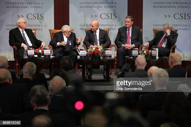 The Center for Strategic and International Studies President and CEO John J Hamre former National Security Advisors Henry Kissinger White House...