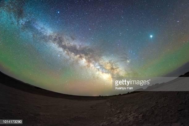 The center of milky way, galaxy, Night sky