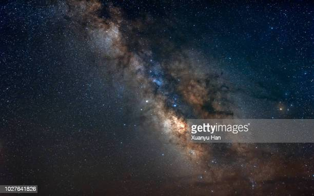 the center of milky way, galaxy, night sky - outer space stock pictures, royalty-free photos & images