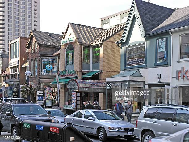 The center of trendy Yorkville in Toronto Ontario This area has many trendy art and clothing shops