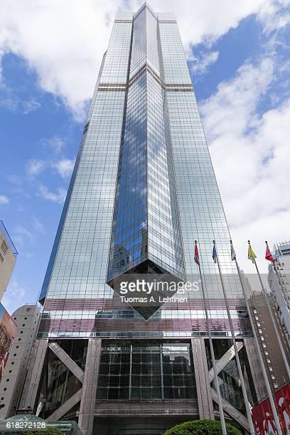 the center skyscraper in hong kong - 中環中心 ストックフォトと画像