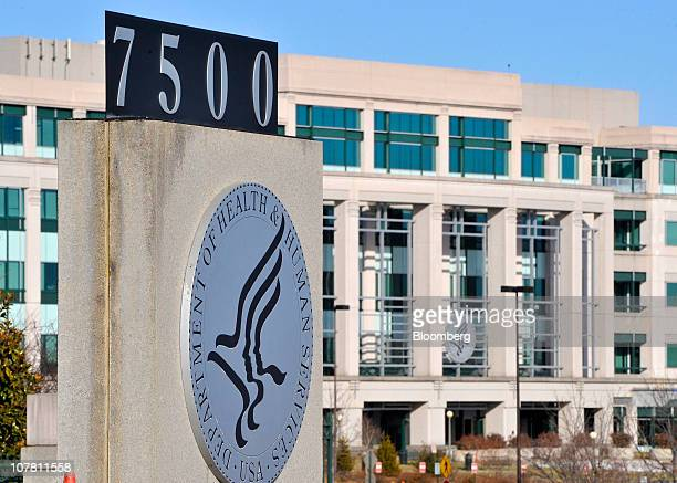 The Centers for Medicare and Medicaid Services office part of the US Department of Health and Human Services stands in Woodlawn Maryland US on Dec 28...