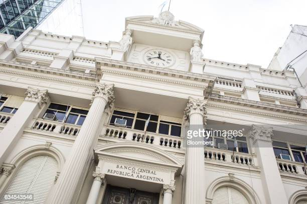 The Central Bank of Argentina stands in Buenos Aires Argentina on Wednesday Feb 1 2017 The city of Buenos Aires released Argentina's consumer price...