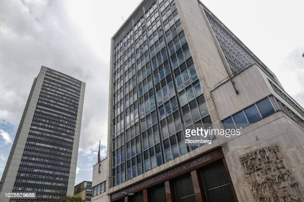 The Central Bank Of Colombia Stands In Bogota On Friday Aug 31 2018 Finance Minister